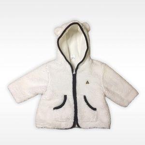 Gap Baby Zip Up Sweater size 3-6 months White